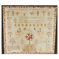 Sampler...Needlework sampler...1887 sampler...