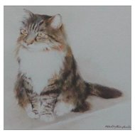Cat painting...Painting of a cat...Mandy Shepherd...