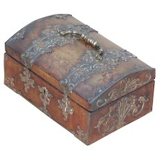 Box...Victorian walnut & brass box...Trinket box...