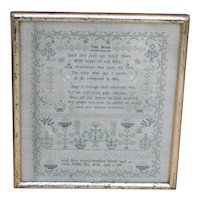 Sampler...Needlework sampler...1839 sampler...