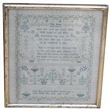Sampler...Needlework sampler...1839 sampler...