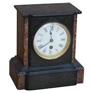Clock...Vintage slate & marble clock...