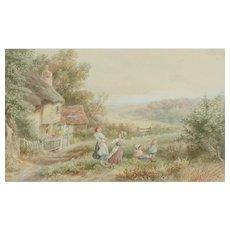 Rural watercolor painting....Bertram Foster...
