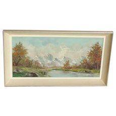 Scenic oil painting...Painting of mountains...