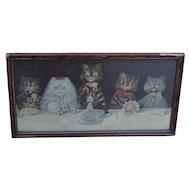 Cats. Humorous cat print. Victorian cat print.