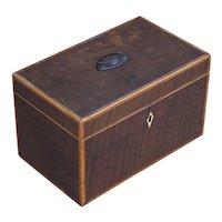 Tea Caddie. Box. Georgian Tea Caddie. Decorative box.