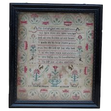 Sampler needlework sampler. 1763 sampler.
