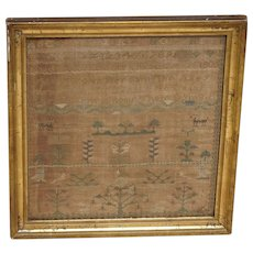 Sampler. Needlework sampler. 1808 sampler.