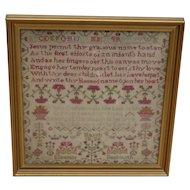 Sampler, Needlework sampler. Vintage sampler. 1826 sampler.