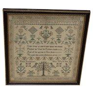 Sampler. Needlework sampler. Vintage sampler 1833.