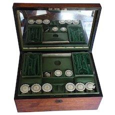 Sewing box. Victorian sewing box. Vintage sewing box. Box.