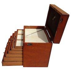 Box of drawers. Vintage cabinet of drawers. dental drawers.