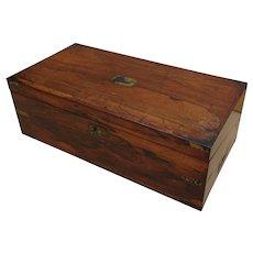Writing box. Lapdesk. Writing slope. Rosewood writing box. Vintage lapdesk.
