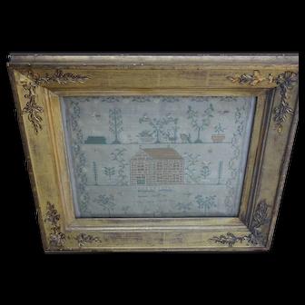 Sampler. Needlework sampler. 1823 sampler.