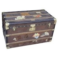 Moynat trunk. Travel trunk. Chest. French trunk. Vintage trunk.