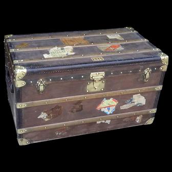 Moynat trunk. Travel trunk. Chest. French trunk. Vintage trunk.
