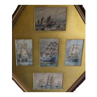 Ship painting. Sailing ships. Galleons. W.E. Atkins.