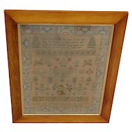Sampler needlework sampler. 1825 sampler.