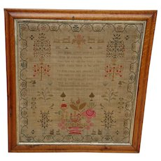Sampler needlework sampler.