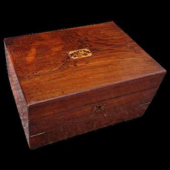 Writing box. Sewing box. Lapdesk.