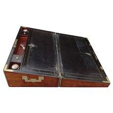 Writing box. Lapdesk. Writing slope. Mahogany writing box. Vintage lapdesk.