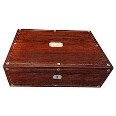 Lapdesk. Writing slope. Writing box. Rosewood box.