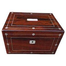 Box. Vintage vanity box. Rosewood box. Jewelry box: