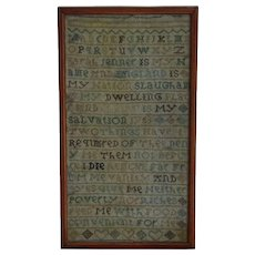 Sampler. Needlework sampler. 1763 sampler.