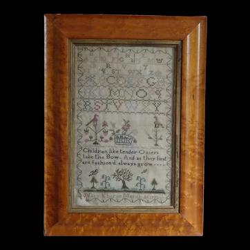 Sampler. Needlework sampler 1772.