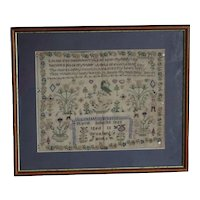 Sampler Needlework sampler. 1853 sampler.