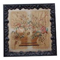 Sampler. Silkwork. Embroidery. Vintage needlework.