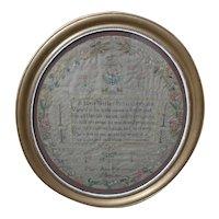 Sampler. Needlework sampler. 1816 sampler.