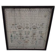 Sampler. Needlework sampler. 1827 sampler.