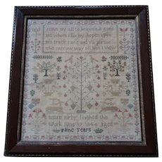 Sampler. Needlework Sampler 1844