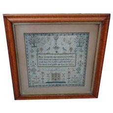 Sampler. Needlework sampler. 1843 sampler.