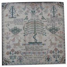 Sampler. Needlework sampler. Vintage sampler 1832