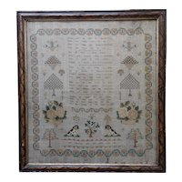 Sampler. Needlework sampler. 1839 sampler.