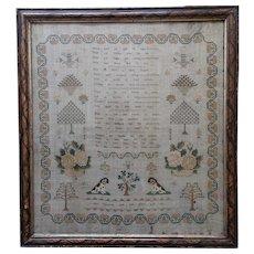 Sampler. Needlework sampler. 1839 sampler.