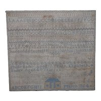 Sampler. Needlework sampler. 1864 sampler.