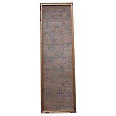 Sampler. Needlework sampler. 1789 sampler.