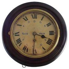 Clock. Wall clock. Lodge plugs.