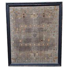 Sampler. Needlework sampler. 1801 sampler.