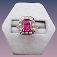 Victorian 10 karat synthetic ruby ring