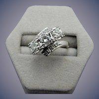 Vintage 14 Karat 3 stone Diamond Ring