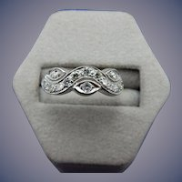 Estate 14 Karat Diamond Wedding Band