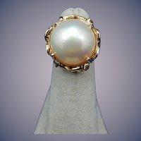 Estate 14 Karat Mobe Pearl Ring
