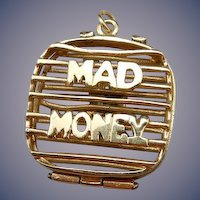 "Vintage 14 Karat ""Mad Money"" Charm"