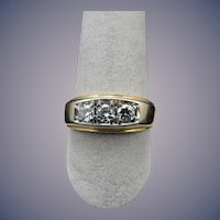 Vintage 14 Karat 3 Stone Diamond Ring