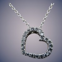 Estate 14 Karat Diamond Heart Pendant