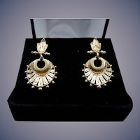Estate 14 Karat Etruscan Revival Earrings